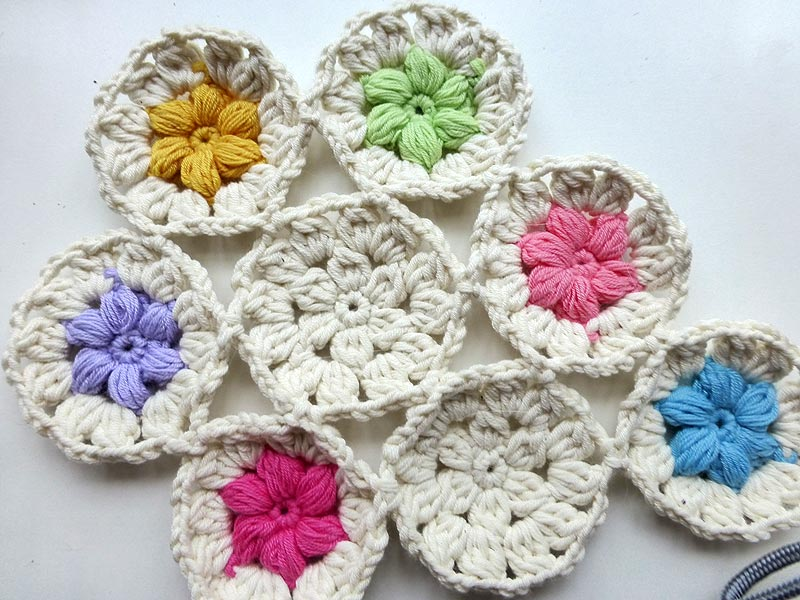 "Advent Calendar * December 08 * Crochet ""Flowers in the Snow"""