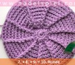 Crochet Cap with Front Post and Back Post Double Crochets