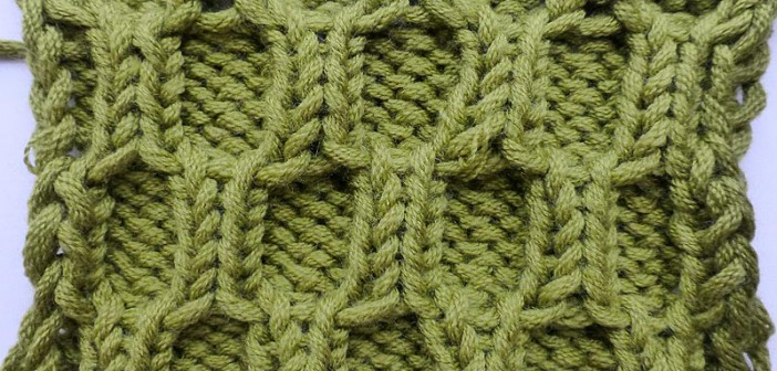 Honeycomb Knitting Stitch How To : How to Knit * Honeycomb Cable * Knitting Stitch