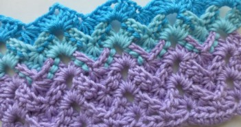 Crochet Stitch * ZigZag with Profile